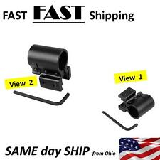 "20mm Tactical Flashlight / Laser Picatinny Weaver Rail Mount Bracket 3/4"" hole"