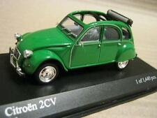 MINICHAMPS  1/43 scale CITROEN 2 CV - GREEN OPEN ROOF L.H.D. MINT IN DISLAY CASE