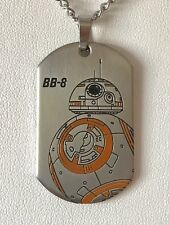 """Star Wars Jewelry Episode 7 Bb8 Laser Etched Dog Tag Pendant Necklace, 22"""""""