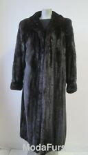 Women's Sz 12 Natural Dark Ranch Mink Fur Coat  Mint CLEARANCE SALE