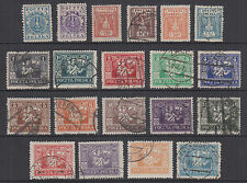 Poland Sc 170-190 used 1922-1923 definitives, cplt set of 20, F-VF