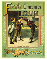 Fry's Chocolates  VINTAGE ENAMEL METAL TIN SIGN WALL PLAQUE