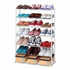 21 Pairs 7 Tier Folding Stackable Shoe Rack Stand Organiser Storage Holder