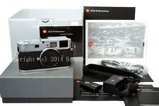 Brand new Silver Leica M Monochrome digital camera B&W M9-P monochrom # 10787