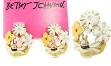 E126 BESTSEY JOHNSON Pomander Kissing Flower Ball Ladybug Butterfly Earrings US