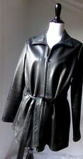 Andrew Marc New York Women's Black Soft Leather Coat Jacket Office Career Size L