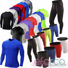 Mens Compression Shirt Armour Base Layer Tight Skins Shorts Pants GYM Tank Tops