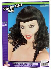 Pin Up Bettie  Page Inspired  Rockabilly Costume Wig