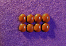 Red jasper cabochon collection 12mm x 10mm ovale, 34.60cts, réf BG-A5