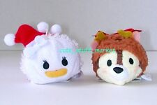 TSUM TSUM DISNEY STORE JAPAN CHRISTMAS HOLIDAY CHIP & DAISY DUCK PLUSH US Seller