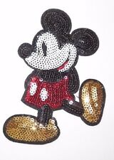 Disney MICKEY MOUSE SEQUINS Iron-on Patch Applique