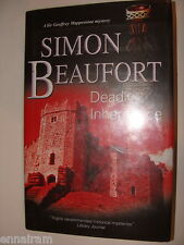 Deadly Inheritance  Simon Beaufort Susana Gregory 2010 HC Geoffrey Mappestone