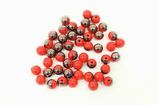 10 perle Rouge Brillant 10mm, Perle magique, creation bijoux, colier, bracelet