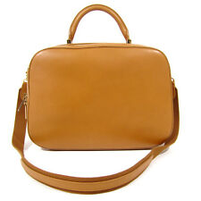 THE ROW Brown Tan Leather Bowler Medium sized Bag Handbag