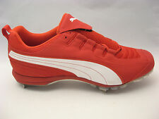 NEW Mens Red Baseball Cleats 15 Puma Ultra Speed II Metal Spike Pro Model 101385