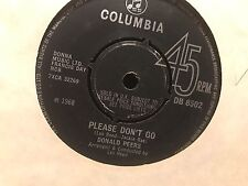 "7"" RARE VINYL - DONALD PEERS - PLEASE DONT GO/ IVE LOST MY LOVE COLUMBIA DB8502"