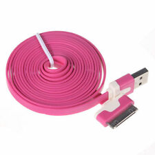 Long 3M USB Cable for iPhone 4S 4 Data Sync Charger Noodles Lead Pink