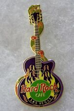HARD ROCK CAFE LAS VEGAS ORIGINAL SNAKE WRAPPED AROUND PURPLE GUITAR PIN # 13942