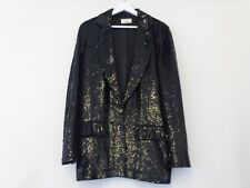 ASHISH BLACK OVERSIZED SEQUIN BLAZER / JACKET SIZE SMALL UK 8-10