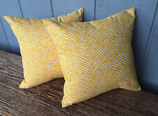 """Small gold and white  indoor/outdoor pillow set 12"""""""