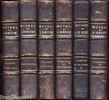6 livres de Musset 3T Comedies et proverbes + 2T poesies + nouvelles reliés