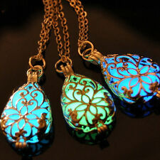 Pleasing Wishing Tear Drop Fairy Glow in the Dark Steampunk Pendant  Beauty