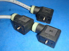LOT OF 3 K & B Electro Valve connector, MSD6, MSD-6 USED EXLNT