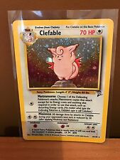 Clefable (5/130) Base Set 2 Holo Pokemon Card. Near Mint Condition