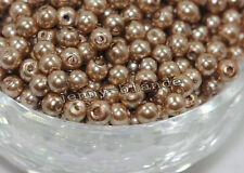 Lots 20-100X Glass Pearl Loose Round Spacer Bead Charms Jewelry Findings 4-12mm