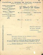 ORLEANS MACHINES A ECRIRE ETS POTEL & DE COSTER CYCLES HELYETT SULLY/LOIRE 1923