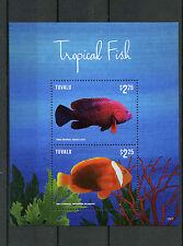 Tuvalu 2015 MNH Tropical Fish 2v S/S I Marine Fishes Grouper Clownfish