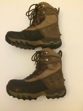 THE NORTH FACE Mens Size 8 Primaloft Outdoor Winter Hiking Snow Boots Blk/Brown