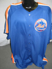 MLB New York Mets Signature Jersey Shirt Mens Large Blue Orange Patch Sewn New