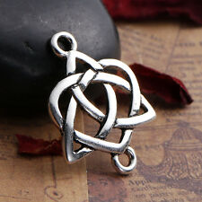 CELTIC KNOT Connector Findings Antique Silver Hollow 24x19mm for kumi cord chain