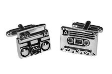 Juke Box Boom Cassette Playing Dj Music Cufflinks + Free Box & Cleaner