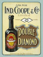 Ind, Coope & co, India Pale Ale, Old Bottled Beer, Pub Bar, Large Metal/Tin Sign
