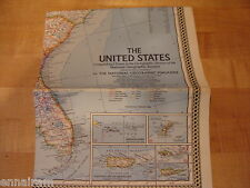 National Geographic Society Map 1968 The United States