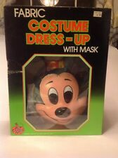 NOS Vintage 1989 Ben Cooper Disney Mickey Mouse Halloween Costume & Mask W/Box
