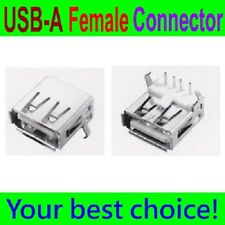 10 Pcs USB Type-A Right Angle 4 Pin FeMale Connector Jacks