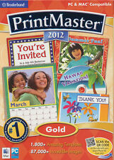 PRINTMASTER 2012 GOLD Print Master 12 Windows & Mac Publisher Software BRAND NEW