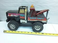"""RARE Vintage Nylint Pressed Steel """"Super Tow'd"""" Ford 9000 Tow Truck"""