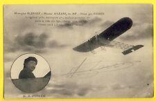 cpa Rare AVIATION MONOPLAN BLERIOT Signée par le PILOTE Alphonse POIREE