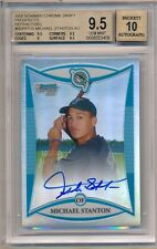 GIANCARLO MIKE STANTON 2008 BOWMAN CHROME RC REFRACTOR AUTO #/500 BGS 9.5 GEM 10