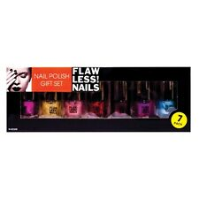 7 x Nail Polish Varnish Gift Set Boxed 7 Pieces Gorgeous Collection Colours New