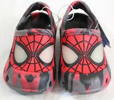Spiderman Clogs Red/Black/Grey Slip-On with glow in the dark eyes Toddler Sz 5-6