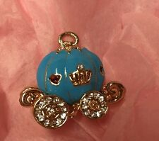 Blue Cinderella Pumpkin Carriage Charm Embellishment Craft Jewellery Bow Making