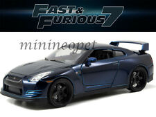 JADA 97036 FAST AND FURIOUS 7 BRIAN'S 2009 09 NISSAN SKYLINE GT R R35 1/24 BLUE
