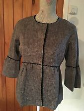 LADIES JAEGER SHORT GREY JACKET SIZE 8