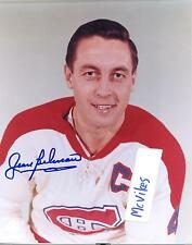 Jean Beliveau Montreal Canadians Autographed Signed 8x10 Photo COA HOF #1