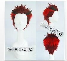 RWBY ADAM RED BLACK MIX short hot cosplay /wig party fashion costume Anime hair